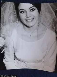 Another wedding photograph of Frances Kray. 19 April 2016. Photograph by David Bailey.