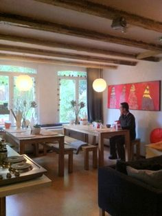 COCOMAMA   Amsterdam's First Boutique Hostel - (Shown here: the Dining area)