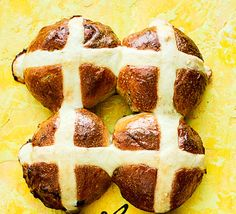 These citrus hot cross buns make a clever twist on an Easter classic. Try them with a spoonful of lemon curd for a delicious, decadent breakfast
