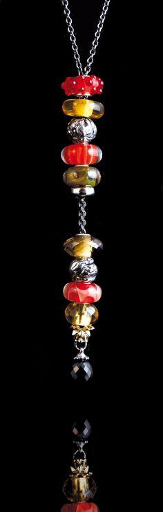 #Collana Fantasia #Trollbeads con beads Collezione Autunno 2012
