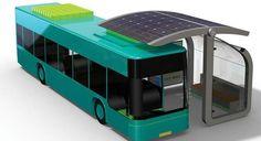 Cargador solar inalámbrico para autobuses eléctricos