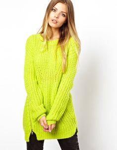 ASOS Premium Sweater With Side Zip
