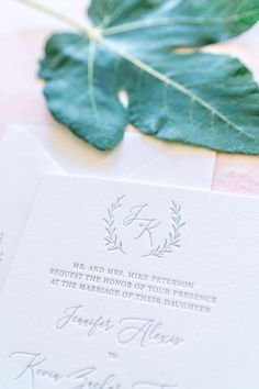 Looking for the perfect letterpress invitations? Start by ordering a sample today! #ohmydesigns