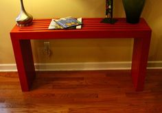 Ana White | Build a Modern Vertical Slat Top Console | Free and Easy DIY Project and Furniture Plans
