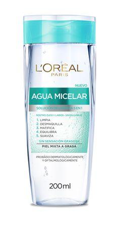 Prueba la nueva Agua Micelar, ideal piel mixta a grasa