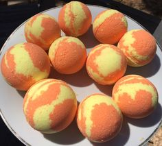 Orange and Honey Bath Bombs