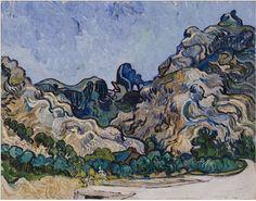 Vincent van Gogh, Mountains at Saint-Rémy   (1889)