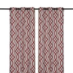 Red Avalon Curtain Panel Set, 84 in. | Kirklands