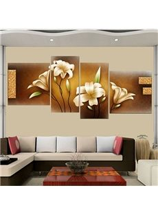 Stunning Home Office Decoration Lily 4-Piece Wall Art Prints