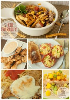 Kid Friendly Family Dinners in under 30 minutes KristenDuke.com #mealplanning #meals #recipes