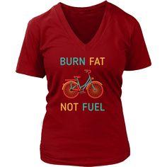 Burn fat not fuel Cycling T Shirt Cycling Outfit 1e71f5d2f