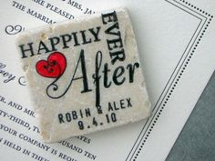 happily ever after save the date magnet.