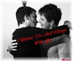 Can't you just imagine Jack saying that to Ianto? Or even Ianto saying it to Jack ? Enjoy Jack and Ianto: I Wanna do. Gareth David Lloyd, Torchwood, Eye Candy, Kiss, Deviantart, Movies, Movie Posters, Fictional Characters, Films