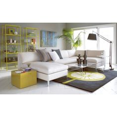 cielo ivory sectional pieces in sectionals | CB2 - love this look -- think it would work