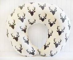 Deer Buck Forest Night for Boys Nursing by ThreeWishesBeddingCo