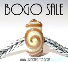 BOGO Sale – Buy one get one! ------ Making room for new beads... Place 2 (or more) beads in your shoppingcart and get a 50% discount. Couponcode BOGOSALE or use this link and the discount will automatically be applied: http://www.etsy.com/shop/Luccicare?coupon=BOGOSALE Discount is available until 3 September, 2017 New beads will be posted on September 4th!