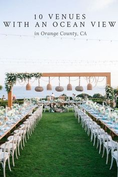 Finding a wedding venue is HARD. I've done the hard work for you and gathered 10 Wedding Venues with an Ocean View In Orange County! Beach Wedding Reception, Beach Wedding Decorations, Beach Wedding Favors, Space Wedding, Outdoor Wedding Venues, Ocean View Wedding, Dream Wedding, Fall Wedding, Diy Wedding