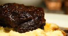 Slow Cooked Beef Cheeks in Red Wine
