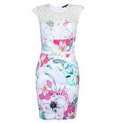 Floral Reef Asia Sleeveless Round Neck Dress