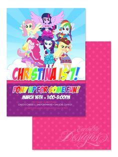 Equestria Girls - Digital Birthday Party Invitation / Child Party Ideas / Children Party Themes / Children Invites / Children Invitations / Kid Party Ideas / Kid Invitations