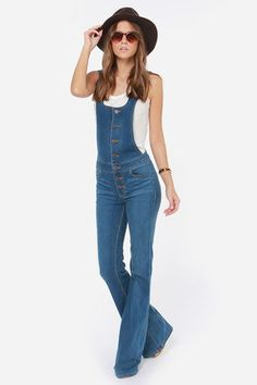 Dittos Delilah Flared Overalls at LuLus.com!  They're sold out right now!..grrr