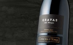 Gravas del Maipo is born as a tribute by Concha y Toro to the majestic Andes and the hidden gravel from silently eroded, displaced and molded soils year after year in the thousands of years old Maipo basin. It reflects the challenge of positioning #Chile as a high-quality #wine producer, together with the constant and passionate search for identifying those terroirs that faithfully express the character of a grape variety. Fine Wine, Basin, Gifts For Him, Wines, Chile, Challenge, Bottle, Search, Character