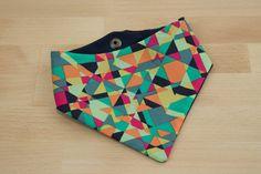 Dog bandana - Cat Bandana -Colorful, Mint, Turquoise, Navy Blue, Pink, Orange, Geometric Dog Bandana - Snap On Bandana
