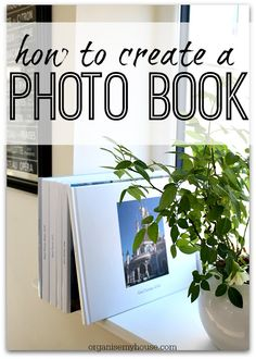 How to create a photobook - a great way to produce a yearbook for the family - take artwork, cards and photos and create a memory