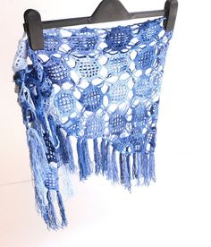 blue crochet skirt cover up crochet beach cover up pareo lace cover up summer crochet pareo senoAccessory on Etsy, 35,00$