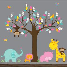 Children Wall Decals For NurseryTree with by Modernwalls on Etsy, $159.00