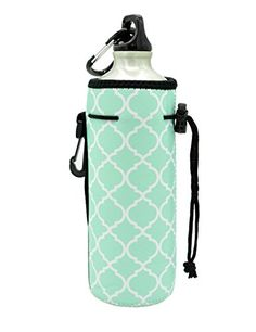Water Bottle Sleeve Carrier Cover Neoprene Water Bottle Drawstring Insulator Cooler Sleeve bag * You can find more details by visiting the image link.Note:It is affiliate link to Amazon.