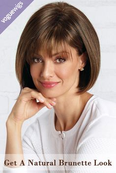 Shop our selection of short bob style wigs! Scorpio by Revlon Wigs boasts full fringe bangs with a rounded bob cut and features a cool, capless construction. Asymmetrical Bob Haircuts, Short Bob Haircuts, Long Bob Hairstyles, Hairstyles With Bangs, Vintage Hairstyles, Bob Haircut With Bangs, Short Hair With Bangs, Short Hair Cuts, Wispy Bangs