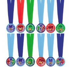Pyjamasques - Mini Médailles 12/pqt