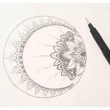Image result for mandala moon                                                                                                                                                                                 More