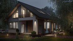 Ультра Эс. Проект дома S45 - компактный и очень функциональный мансардный дом для узкого участка. Общая площадь: 190.7 м2 Универсальный стильный дом с лаконичным, графичным внешним видом и удобным, функциональным внутренним пространством идеально подойдёт для строительства даже на очень небольшом и узком участке. #ультраэс #проектдома #строительство