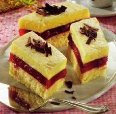 Prăjitură cu vişine – Giulia's world by Dima Ioana Hungarian Desserts, Romanian Desserts, Hungarian Recipes, Cold Desserts, Delicious Desserts, Cookie Recipes, Dessert Recipes, Pie Cake, International Recipes
