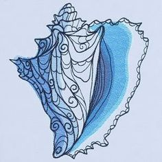 Ocean Blue - Conch Shell_image