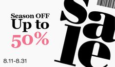 Pre-Fall SALE Up to 50% off! 2014.08.11~2014.08.31!  5ivesense.com