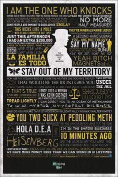 Typographic by Breaking Bad