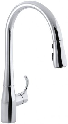 KOHLER K-596-CP Simplice Single-Hole Pull-down Kitchen Faucet