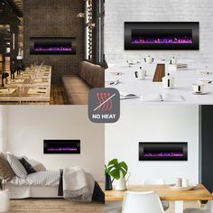 Quevedo Wall Mounted Electric Fireplace Wall Mount Electric