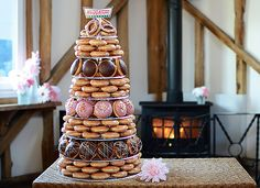 Krispy Kreme Alternative Wedding Cake  http://www.fundyourwedding.co.uk/#!Alternative-Wedding-Cakes/cmbz/56b11b660cf2fb0f6fea7e6c