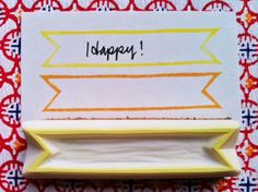 ribbon banner rubber stamp - hand carved rubber stamp - handmade journaling stamp - mounted