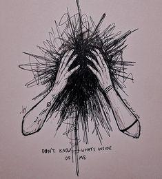 Sad Drawings, Dark Art Drawings, Pencil Art Drawings, Art Drawings Sketches, Dark Art Illustrations, Illustration Sketches, Tattoo Drawings, Vent Art, Arte Obscura