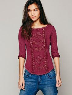 Truly Madly Lace Top at Free People Clothing Boutique