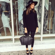 For these chilly mornings we love the Cara Felt Fedora, Urban Sweater, Boston Pants and City Bag
