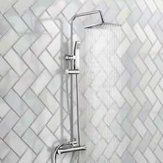 Looking for a modern thermostatic shower with square shower head? Our Essential Range square shower adds low cost luxury (& comes with a handheld shower too! Bathroom Layout, Modern Bathroom, Bathroom Ideas, Media Shower, Mixer Shower, Shower Kits, Hand Held Shower, Shower Heads, Bathrooms