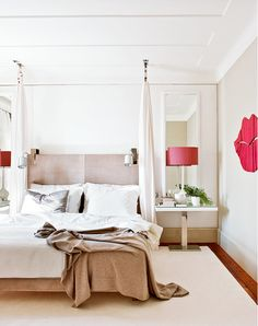 Neutrals Go Glam in This Spectacular Lisbon Home// canopy, color pop