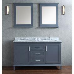 "Ariel by Seacliff Nantucket 60"" Single-Sink Bathroom Vanity Set - Ariel Bath"