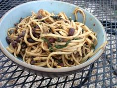 Tom's Kitchen: Udon Noodles With Eggplant, Greens, and Beans | Mother Jones